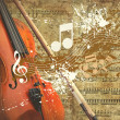 Retro musical grunge background — Stock fotografie