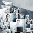 Business collage of many business images - Stockfoto