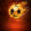 Hot soccer ball on the speed in fires flame — Stock Photo #6352228