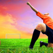 Happiness footballer - outdoor — Foto Stock