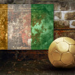 Grunge flag on the wall and ball — Stock Photo #6352468