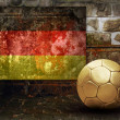 Grunge flag on the wall and ball — Foto Stock