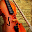 Retro musical  grunge violin background — Stockfoto