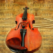 Retro musical  grunge violin background — Stock Photo