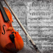 Stock Photo: Retro musical grunge violin background