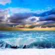 View of storm seascape - Stockfoto