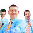 Group of happiness businessmans on the white background — Stock Photo #6353691