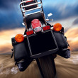 Motorcycle outdoor on speed - Stok fotoğraf