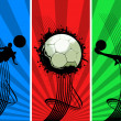Three color Grunge Soccer backgrounds — Stock Photo