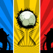 Three color Grunge Soccer backgrounds — Foto de Stock