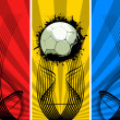 Three color Grunge Soccer backgrounds — 图库照片