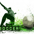 Grunge Soccer Ball background — Foto de Stock