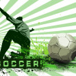Grunge Soccer Ball background — Stock fotografie
