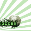 Grunge Soccer Ball background — Foto Stock
