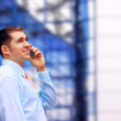 Businessman talking by phone — Stock Photo #6354244