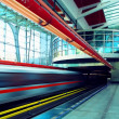Train on speed in railway station — Stock Photo #6355086