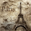 Vintage view of Paris on the grunge background — Stock Photo #6355228