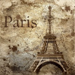 Vintage view of Paris on the grunge background — Stock Photo #6355231