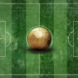 Royalty-Free Stock Photo: Grunge football field texture