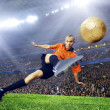Football player on field of stadium - Lizenzfreies Foto