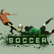 Grunge Soccer Ball background — Stok fotoğraf