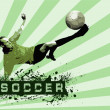Grunge Soccer Ball background — Stockfoto