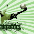 Grunge Soccer Ball background — Stock Photo #6355946