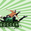 Grunge Soccer Ball background — Stock Photo