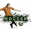 Grunge Soccer Ball background — Stock Photo #6355953