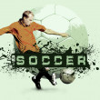 Grunge Soccer Ball background — Photo