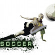 Grunge Soccer Ball background — Stock Photo #6355958