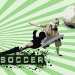 Grunge Soccer Ball background — Stock Photo #6355960