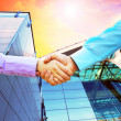 Shaking hands of two business — Stock Photo