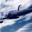 Stock Photo: Military airplon speed