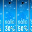 Royalty-Free Stock Photo: Sale abstract winter background