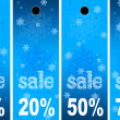 Sale abstract winter background — Stock Photo