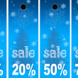 Sale abstract winter background — Stock Photo #6356981