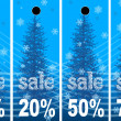 Sale abstract winter background — Stock Photo #6356984
