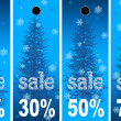 Sale abstract winter background — Stock Photo #6356985