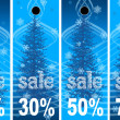 Sale abstract winter background — Stock Photo #6356986