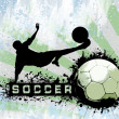Stock Photo: Grunge Soccer background