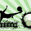 Grunge Soccer Ball background — ストック写真