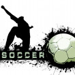 Grunge Soccer Ball background — Stock Photo #6357473