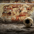 Grunge ball on the retro grunge background — Stock Photo