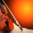 Musical instrument - violin and notes — Stock Photo #6358352