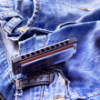 Harmonicon jeans — Stock Photo #6358670