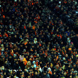 Постер, плакат: DONETSK UKRAINE FEB 25: supporters watch the match UEFA Europ