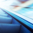 Royalty-Free Stock Photo: Moving escalator on the railway station
