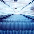 Stock Photo: Moving escalator on the railway station