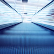 Moving escalator on the railway station — Stock Photo #6359077